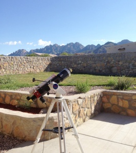 Backyard of our new site in southern New Mexico