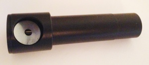 Cheshire eyepiece for initial collimation