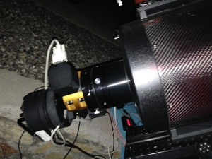 Current set-up showing the new Moonlite DRO focuser and stepper rotator