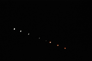 Lunar eclipse sequence from Las Cruces, NM April 15, 2014
