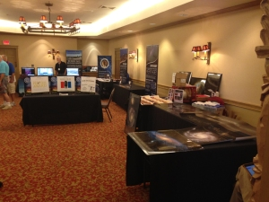More vendors at the conference. NMS booth is at the rear. They were probably the busiest of all!