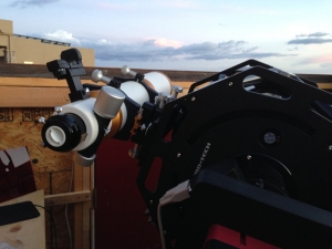 William Optics GT102 triplet mounted on the 12